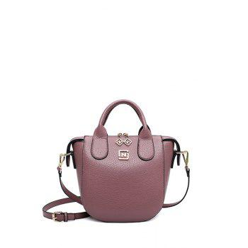 Trendy PU Leather and Solid Color Design Tote Bag For Women