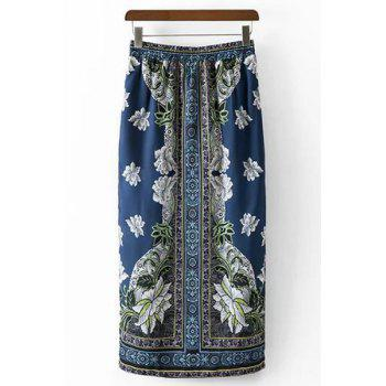 Stylish High Waist Ethnic Style Printed Women's Skirt