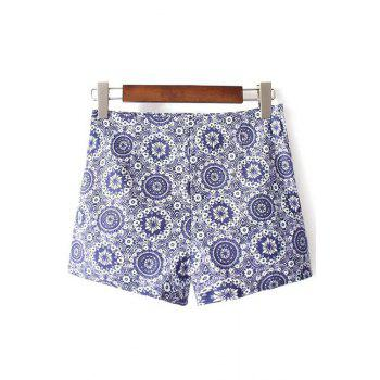 Stylish High Waist Ethnic Style Printed Women's Shorts