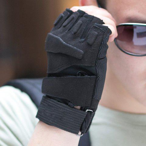 Pair of Stylish Adjustable Skidproof Men's Tactical Fingerless Gloves