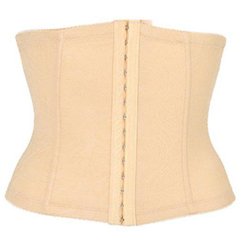 Fashionable Skinny Solid Color Women's Corset - COMPLEXION XL