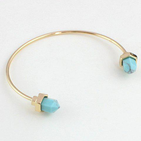 Simple Geometric Turquoise Cuff Bracelet For Women