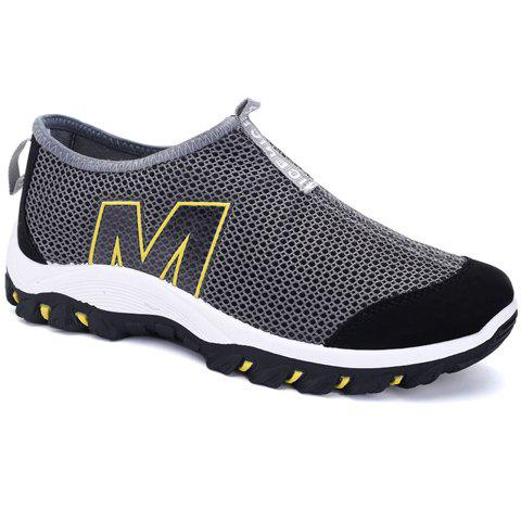 Stylish Splicing and Letter Design Men's Casual Shoes