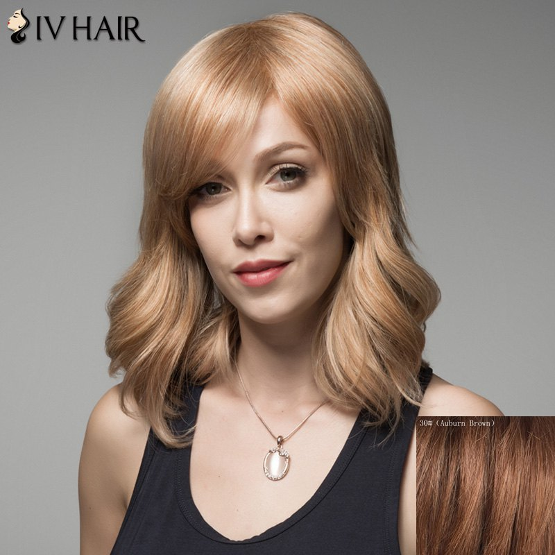 Fluffy Siv Hair Curly Human Hair Wig For Women от Dresslily.com INT