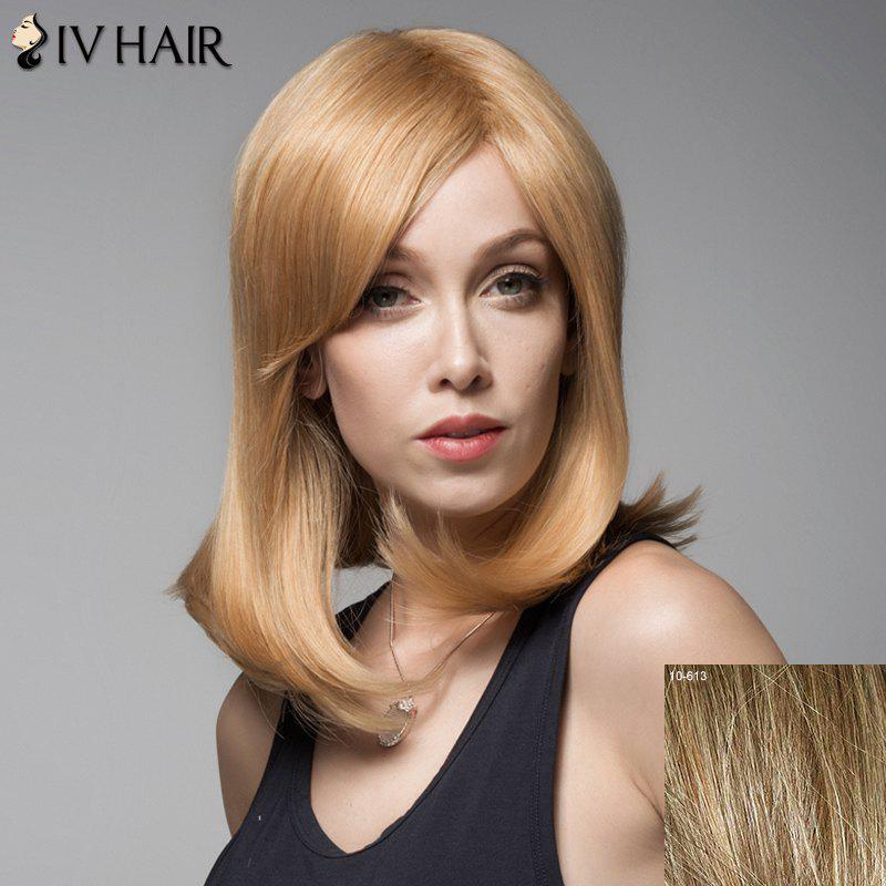 Fluffy Human Hair Side Bang Siv Hair Wig For Women
