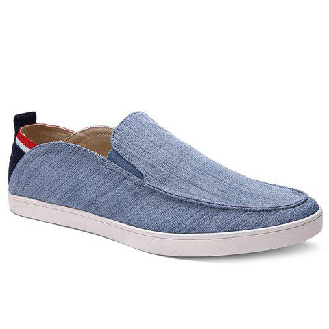 Simple Elastic and Cloth Design Men's Casual Shoes - LIGHT BLUE 42