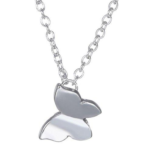 Gorgeous Solid Color Butterfly Necklace For Women - SILVER