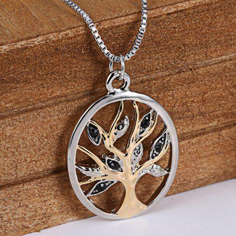 Vintage Tree Hollow Out Pendant Necklace For Women
