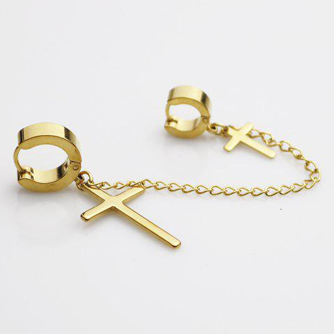 ONE PIECE Trendy Cross Shape Earring For Men one piece vintage screw shape earring for men