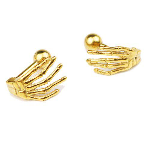 Pair of Chic Claw Shape Earrings For Men