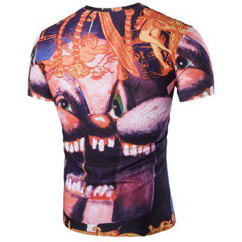 Slim Fit Printed Pullover T-Shirt For Men - COLORMIX 2XL