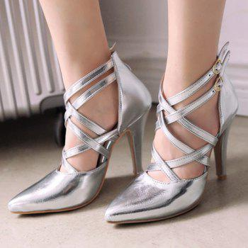 Point Toe Caged Pumps - 39 39
