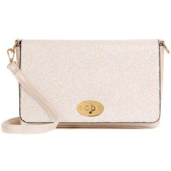 Stylish Solid Colour and Sequins Design Women's Crossbody Bag