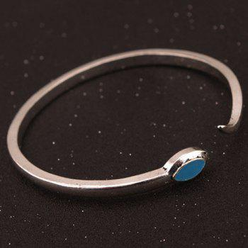 Simple Snakelike Opening Alloy Bracelet For Women