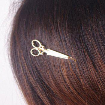 Simple Scissors Shape Alloy Hairpin For Women
