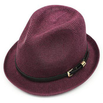 Chic Pin Buckle Belt Embellished Sun-Resistant Women's Jazz Hat