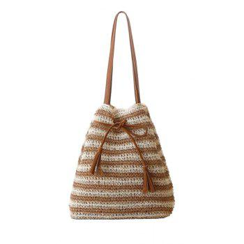 Casual Tassel and Knitted Design Shoulder Bag For Women