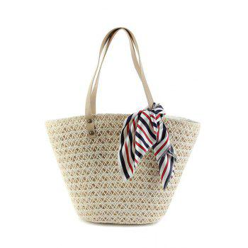 Casual Weaving and Scarf Design Shoulder Bag For Women