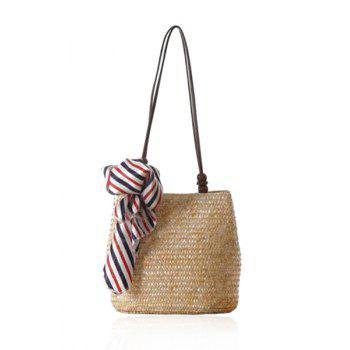 Leisure Scarf and Straw Design Shoulder Bag For Women