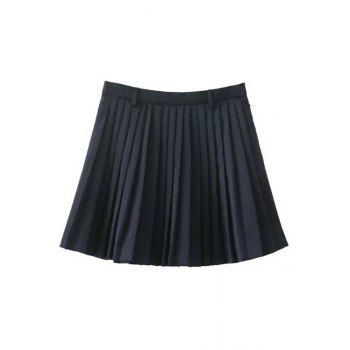 Chic Pleated A-Line Women's Mini Skirt