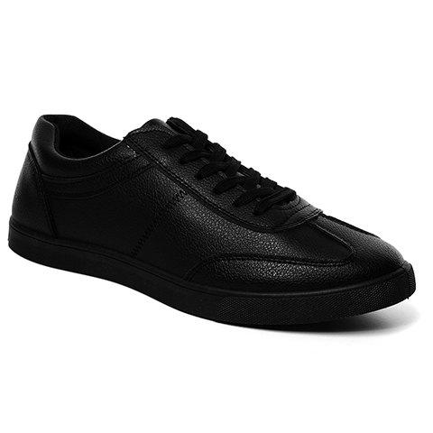 Concise PU Leather and Solid Colour Design Men's Casual Shoes