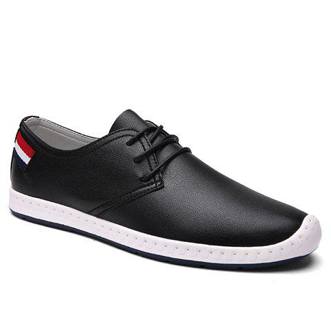 Fashionable Colour Block and Stripes Design Men's Casual Shoes