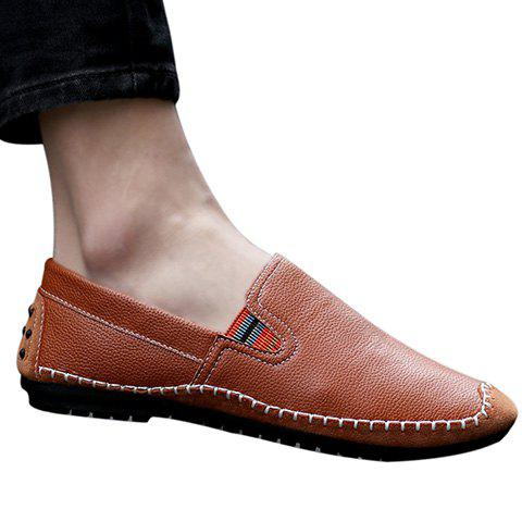 Stylish Stitching and Splicing Design Men's Casual Shoes - BROWN 39