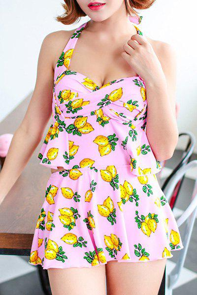 Sweet Hollow Out Halter Floral Women's One-Piece Swimwear от Dresslily.com INT