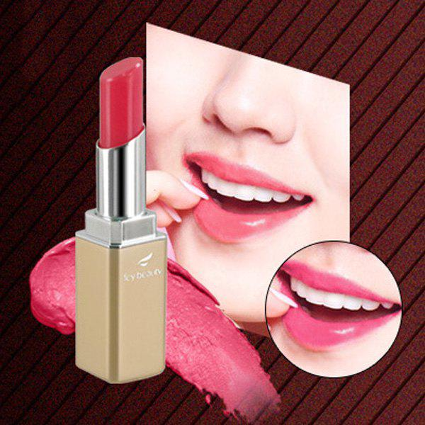 Cosmetic 8 Colours Rhinestoned Medlar Waterproof Moisturizing Heat Discoloration Pearl Lipstick