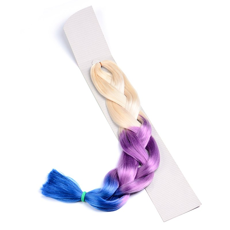 Stylish Long Synthetic Colorful Ombre Braided Hair Extension For Women - OMBRE 1211