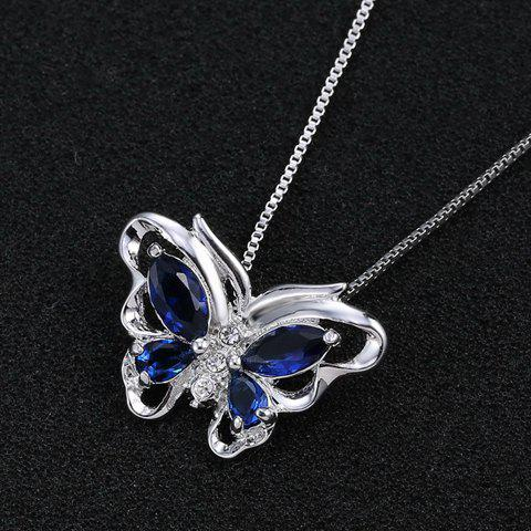 Charming Rhinestone Butterfly Hollow Out Necklace For Women