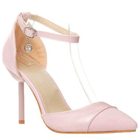 Graceful Two-Piece and Splicing Design Women's Pumps - PINK 38