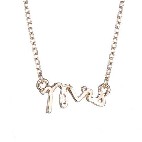 Charming Letters Shape Necklace For Women - GOLDEN