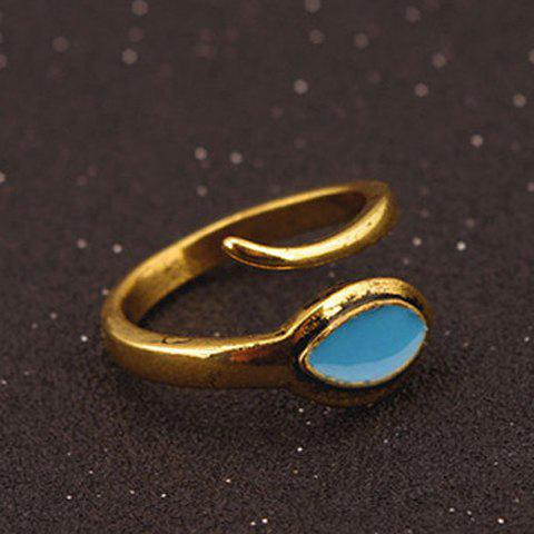 Opening Snakelike Alloy Ring - GOLDEN