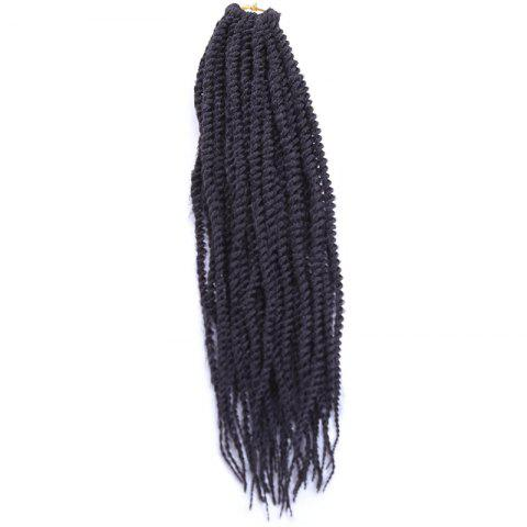 Stunning Long Synthetic Dreadlock Braided Hair Extension For Women - BLACK