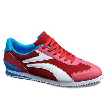 Casual Color Matching and Splicing Design Men's Athletic Shoes