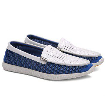 Leisure Openwork and Splicing Design Men's Loafers