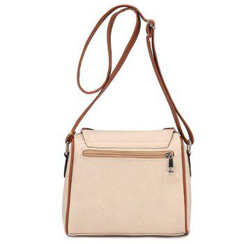 Ethnic Style Hollow Out and Color Matching Design Women's Crossbody Bag - OFF WHITE