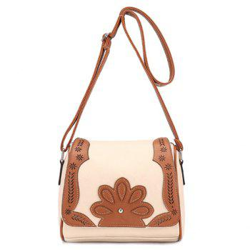 Ethnic Style Hollow Out and Color Matching Design Women's Crossbody Bag