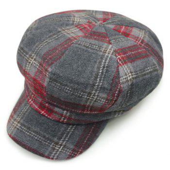 Chic Checkered Pattern Women's Casual Style Newsboy Hat