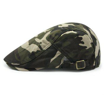Stylish Camouflage Pattern Adjustable Buckle Men's Cabbie Hat