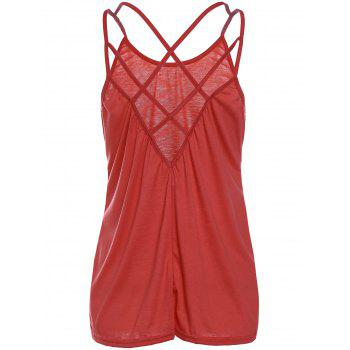 Stylish Scoop Neck Criss-Cross Straps Women's Tank Top