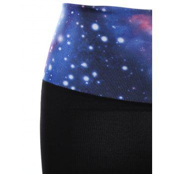 Stylish Elastic Waist Galaxy Splicing Women's Yoga Shorts - ONE SIZE(FIT SIZE XS TO M) ONE SIZE(FIT SIZE XS TO M)