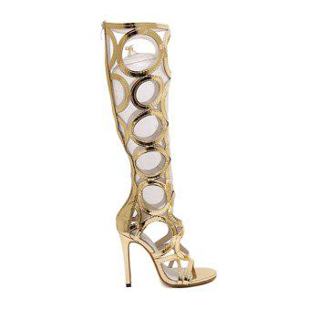 Trendy Stiletto Heel and Hollow Out Design Sandals For Women