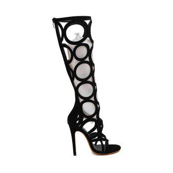 Stylish Knee-High and Hollow Out Design Sandals For Women