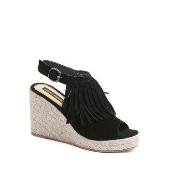Trendy Fringe and Peep Toe Design Design Sandals For Women