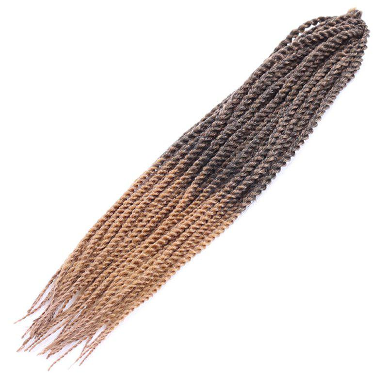 Stylish Two-Tone Ombre Long Synthetic Women's Dreadlock Braided Hair Extension - COLORMIX
