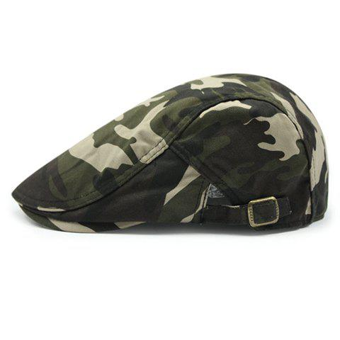 Stylish Camouflage Pattern Adjustable Buckle Men's Cabbie Hat - ARMY GREEN