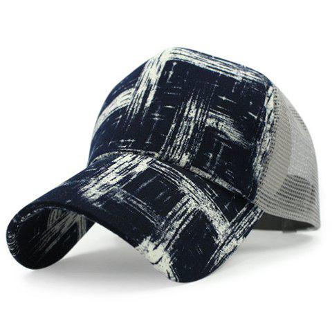 Stylish Scrawl Pattern Breathable Mesh Men's Baseball Cap