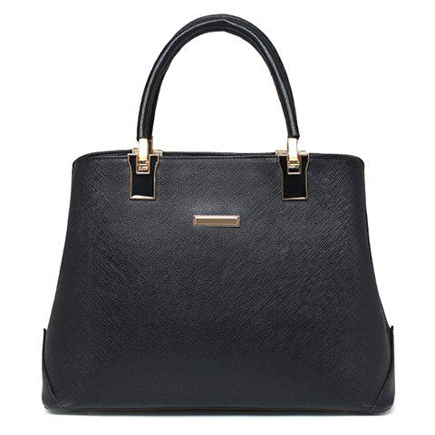Elegant Solid Color and Zip Design Women's Tote Bag - BLACK